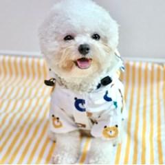 [파우파우] 곰돌이 우비 레인코트 강아지 비옷