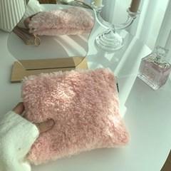 뽀글이파우치-Baby pink