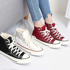 kami et muse Canvas fur high top sneakers_KM20w301