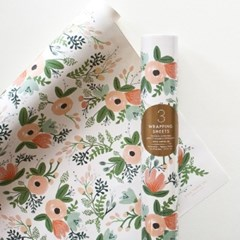 Wildflower Wrapping 3 Sheets 포장지