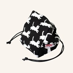 Cat String Pouch - Black