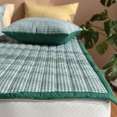 모던체크 누빔 미끄럼방지 침대패드(SS/Q)-4color