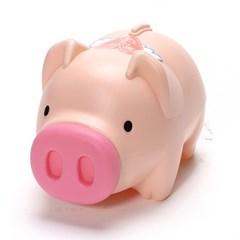 팬시 핑크 돼지저금통(왕대)/팬시점판매용 운동회사