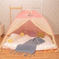 외풍차단 침대 실내 겨울 방한 원터치 난방텐트