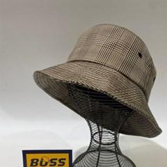 체크 블랙 챙넓은 패션 꾸안꾸 버킷햇 벙거지 모자