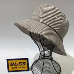 기본 골지 아이보리 챙넓은 대두 버킷햇 벙거지 모자