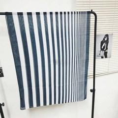 실키 줄무늬 롱 블랙 소라 데일리 미시 패션 스카프