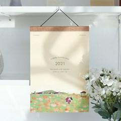 2021 계절의 정원 우드 벽걸이달력