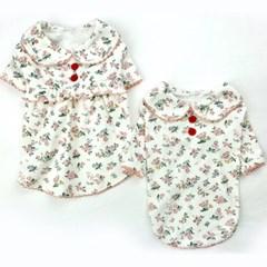 코스모스원피스 강아지티셔츠 애견옷 강아지옷