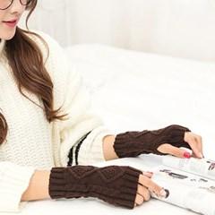 여성 니트 방한 숏 겨울 핸드워머