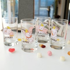 모애 레트로감성 홈카페 디자인 아기코끼리 덤보 유리컵