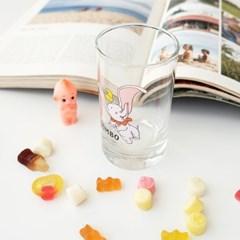 모애 레트로감성 홈카페 디자인 아기코끼리 덤보A 유리컵