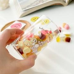 모애 레트로감성 홈카페 디자인 아기사슴 밤비A 유리컵