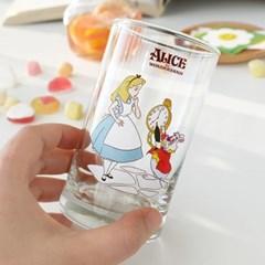 모애 레트로감성 홈카페 디자인 이상한 나라의 앨리스A 유리컵
