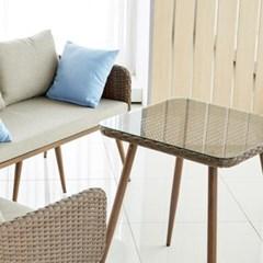 심플 스퀘어 라탄 테이블