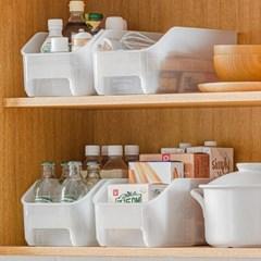 튼튼한 투명 주방 냉장고 싱크대 정리 팬트리 선반 보관함