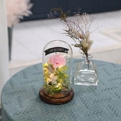 비누꽃 카네이션 플라워 유리돔 핑크 어버이날 선물_(2305251)