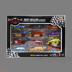 제트 미니카 시리즈 12종/풀백 자동차 장난감