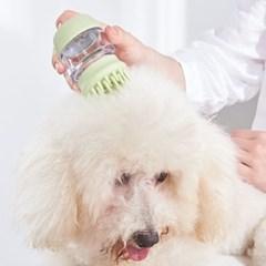 실리콘 재질의 편리한 샴푸통 일체형 반려동물 목욕 브러쉬