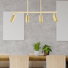 LED 펜던트 티모 4등 COB 28W 주광색 6000K 골드 카페조_(2021757)