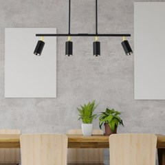 LED 펜던트 티모 4등 COB 28W 주광색 6000K 카페조명_(2021758)