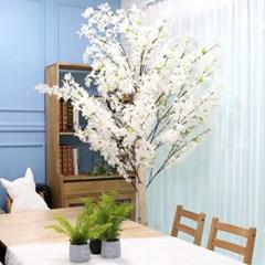 인조나무 인테리어 조화 라일락나무 190cm 화이트핑크_(2310120)