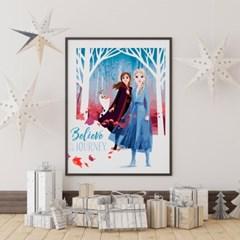 디즈니 DIY 겨울왕국 그리기(40x50cm) 아이러브페인팅