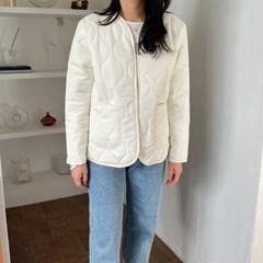 [기획특가] 퀄팅 누빔 오버핏 패딩 집업 자켓 5color