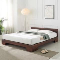 [에띠안]그랑프리 평상형 장미목 원목 침대 SS / K