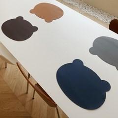 곰돌이 양면 가죽 테이블매트 (4 colors)