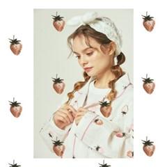 코튼 스트로베리 딸기 파이핑 파자마 1color