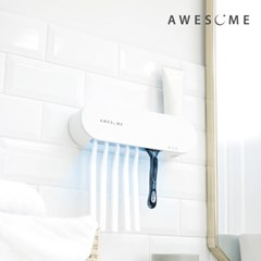 [어썸] 스텐레스 UV 살균 건조 벽걸이형 칫솔 살균기 ATS-1000