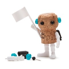 Monkey Business 와인 코르크 DIY 푸시핀 장난감 피규어 데코