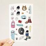 JOLLA IN WINTER 24 pcs Sticker Set. (리무버블스티커)