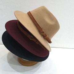 가죽띠 와인 패션 데일리 꾸안꾸 페도라 중절모 모자