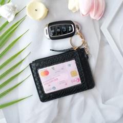 악어무늬 패턴 카드지갑 동전지갑 키링 자동차 키홀더-HO