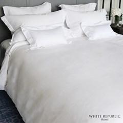 80수 순면 시그니쳐 호텔 이불커버 세트 White (SS,Q,K)
