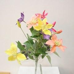 리얼 클레마티스 조화꽃가지 장식(4color)