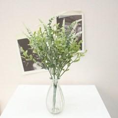 라벤더 그린잎 조화 믹스장식(3color)