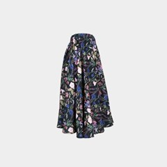 TULIP SKIRT IN BOTANICAL PRINT