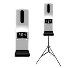 미우 K9 PRO 자동 비접촉 온도계 손소독 올인원 디스펜서