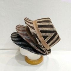 줄무늬 숏챙 블랙 브라운 꾸안꾸 페도라 중절모 모자
