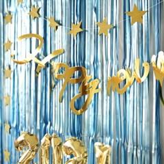 해피뉴이어 모던파티 장식세트 (블루)