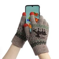 겨울사슴 스마트폰 터치장갑 보온 니트장갑(믹스)