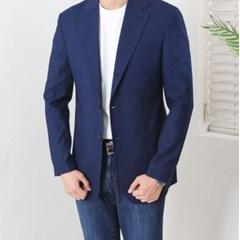 봄 남자 스탠다드핏 카라 투버튼 체크 블레이져 자켓