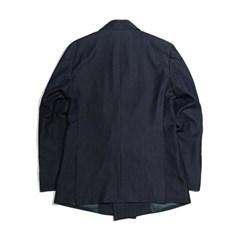 봄 남자 스탠다드핏 테일러드카라 금장 데님 더블자켓
