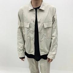봄 남자 루즈핏 나그랑 양포켓 스트링 바스락 셔츠자켓