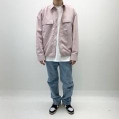 봄 남자 오버핏 빅포켓 밑단스트링 워싱 셔츠자켓