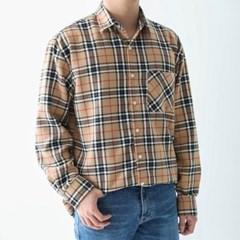 봄 남자 루즈핏 기본 깔끔 글렌체크 긴팔 셔츠남방