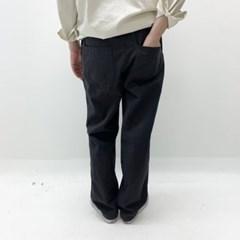 봄 남자 세미배기 통넓은 와이드 면 밴딩 스트링 롱팬츠